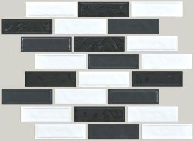 Shaw Floors Home Fn Gold Ceramic Geoscapes Random Linear Black/White Blend 00151_TG45C