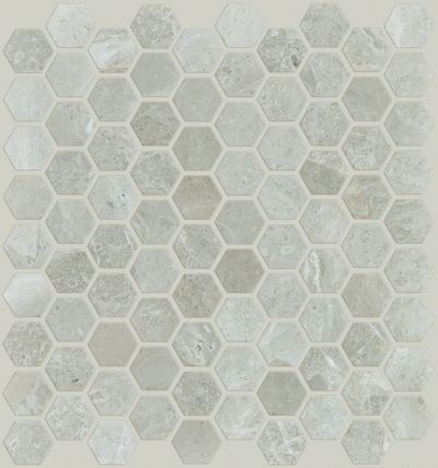 Shaw Floors Home Fn Gold Ceramic Hamptons Hex Honed Mosaic Ritz Grey 00500_TG49B