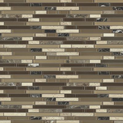 Shaw Floors Home Fn Gold Ceramic Awesome Mix Random Linear Mosi Cappuccino 00700_TG63B