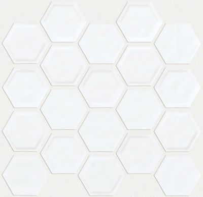 Shaw Floors Home Fn Gold Ceramic Geoscapes Hexagon White 00100_TGJ78