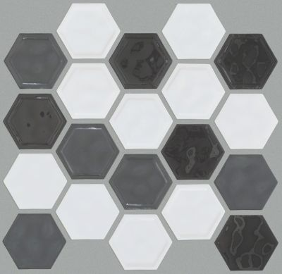 Shaw Floors Home Fn Gold Ceramic Geoscapes Hexagon Cool Blend 00510_TGJ78