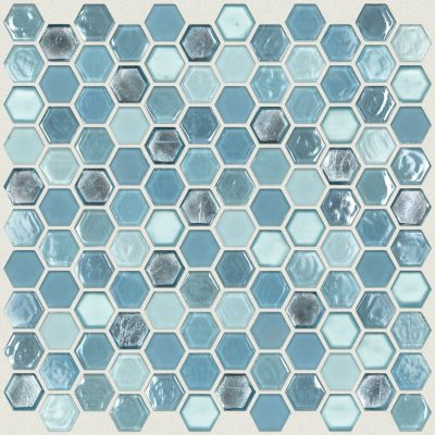 Shaw Floors Home Fn Gold Ceramic Molten Hexagon Glass Santorini 00400_TGJ82