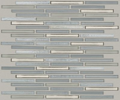 Shaw Floors Home Fn Gold Ceramic Molten Linear Glass Pewter 00505_TGJ83