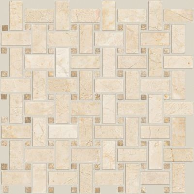 Shaw Floors Home Fn Gold Ceramic Del Ray Basketweave Mosaic Windsurf 00220_TGL27