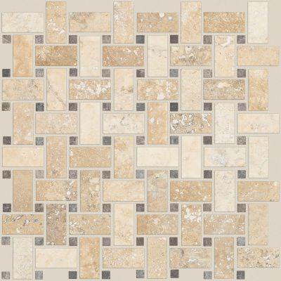 Shaw Floors Home Fn Gold Ceramic Del Ray Basketweave Mosaic Spinnaker 00270_TGL27