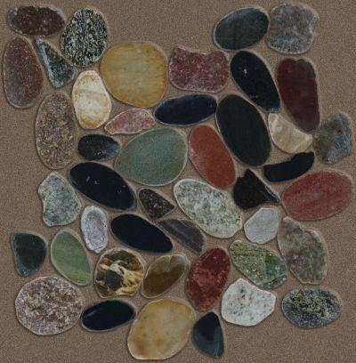 Shaw Floors Home Fn Gold Ceramic River Rock Sliced Savannah 00563_TGL64