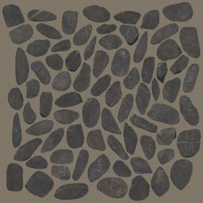 Shaw Floors Home Fn Gold Ceramic River Rock Honed Volga Black 00900_TGL65