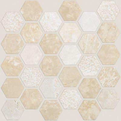 Shaw Floors Home Fn Gold Ceramic Del Ray Hexagon Textured Mosai Coastal 00210_TGN18