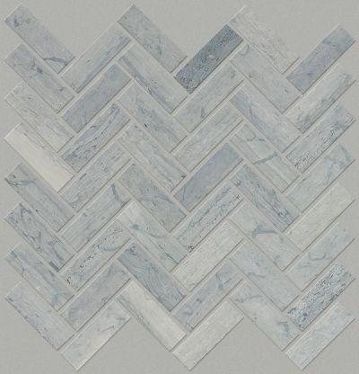 Shaw Floors Home Fn Gold Ceramic Estate Herringbone Mosaic Blue Grigio 00550_TGN88
