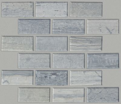 Shaw Floors Home Fn Gold Ceramic Estate 2×4 Beveled Edge Mosaic Blue Grigio 00550_TGN89