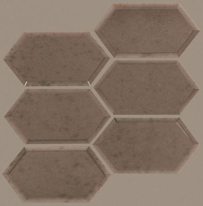 Shaw Floors Toll Brothers Ceramics Venus Hex Mosaic Antique Bronze 00600_TL05C