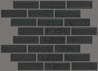 Shaw Floors Toll Brothers Ceramics Geoscapes Random Linear Mosaic Black 00555_TL45C