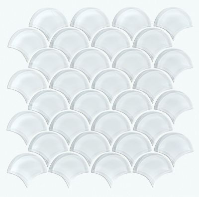 Shaw Floors Toll Brothers Ceramics Principal Fan Glass Mosaic Ice 00100_TL79B
