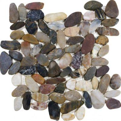 Casa Roma ® Pebble Mosaics Zen Bora Wilderness (12″x12″ Mosaic Polished) CAS76358