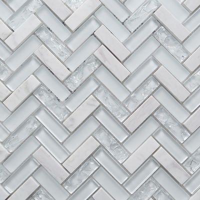 Casa Roma ® Chevron White (11.5″x11.5″) CASCGS21HL