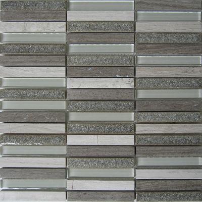 Casa Roma ® Glacier Glass Grey (12″x11.75″ Stacked) CASGBS25C