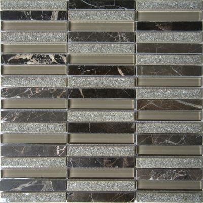 Casa Roma ® Glacier Glass Noce (12″x11.75″ Stacked) CASGBS28C