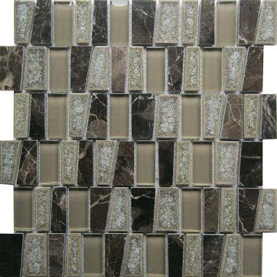Casa Roma ® Glacier Glass Noce (11.25″x11.25″ Stairstep) CASGBS28T