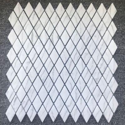 Casa Roma ® Shapes Statuario (1″x1.8″ Diamond Mosaic Matte) CASJS01DM