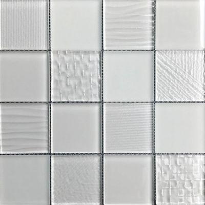 Casa Roma ® Glass Blox Cloud (3″x3″ Mosaic) CASMG0333MC