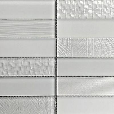 Casa Roma ® Glass Brix Rain (2×8 Stacked Mosaic) CASMG0428MCP
