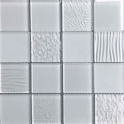 Casa Roma ® Glass Blox Rain (3″x3″ Mosaic) CASMG0433MC