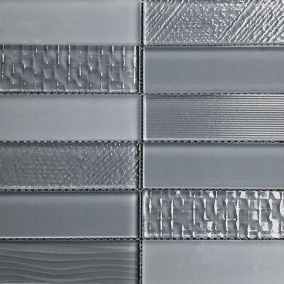 Casa Roma ® Glass Brix Battleship (2×8 Stacked Mosaic) CASMG07128MCP