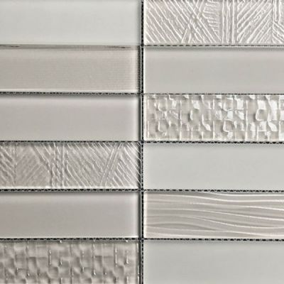 Casa Roma ® Glass Brix Taupe (2×8 Stacked Mosaic) CASMG07228MCP