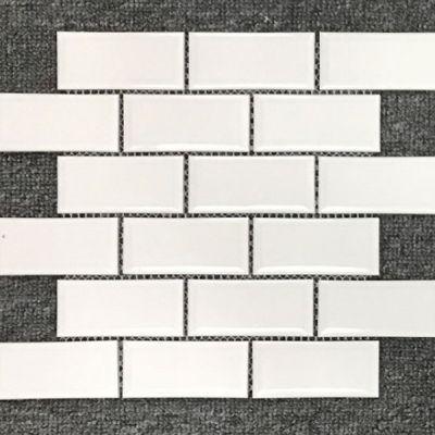 Casa Roma ® Waterfall White (2″x4″ Mini Brick Mosaic) CASMON01M24