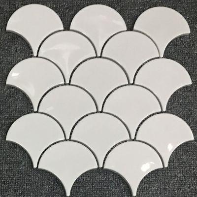 Casa Roma ® Waterfall White (10″x11″ Scallop Mosaic) CASMON01TO