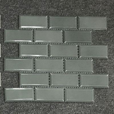 Casa Roma ® Waterfall Deep Green (2″x4″ Mini Brick Mosaic) CASMON03M24