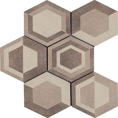 Casa Roma ® Cassini Geometric Warm (8″x7″ Hexagon Decor) CASR4DU