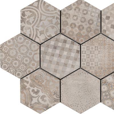Casa Roma ® Cassini Cementine (8″x7″ Hexagon Decor) CASR4DV