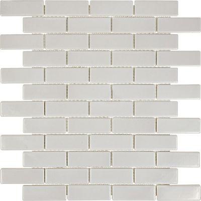Casa Roma ® Wall Art Warm Grey (1″x3″ Glossy Mosaic) SAN51062