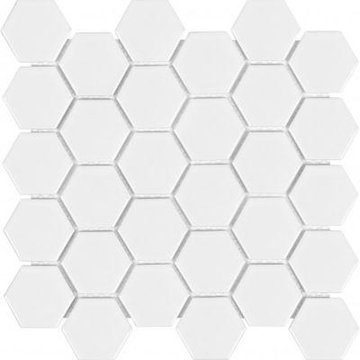 Casa Roma ® Wall Art White (Matte Hexagon Mosaic) SAN51075