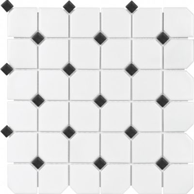Casa Roma ® Wall Art with Black Dot (2″x2″ Matte Mosaic) SAN51081