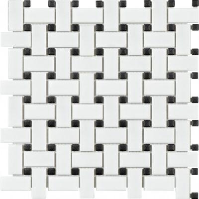 Casa Roma ® Wall Art Basketweave (12″x12″ Mosaic) SAN51090