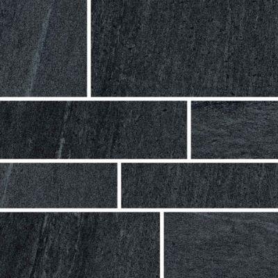 Casa Roma ® Urban 2.0 Raven Black (12×24 Design 6 Mosaic Honed Rectified) STOUSG124D6230