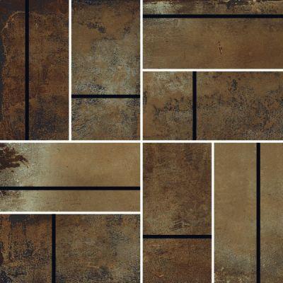 Casa Roma ® Stonecrete Smoldered Cement (3×6 Parquet Mosaic Honed Rectified) STOUSG12MP211