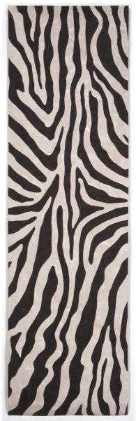 Liora Manne Visions I Contemporary Black 2'3″ x 8'0″ VAFR8304348