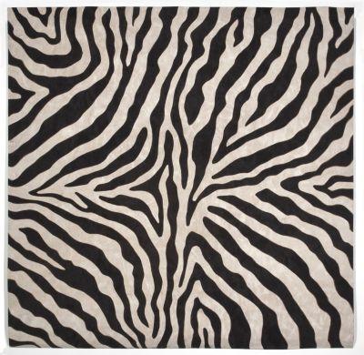 Liora Manne Visions I Contemporary Black 8'0″ x 8'0″ Square VAFS8304348