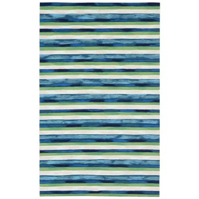 Liora Manne Visions II Contemporary Blue 3'6″ x 5'6″ VCF46431303