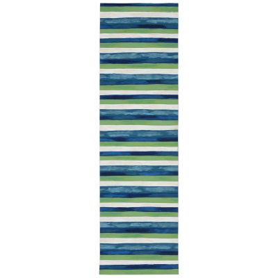 Liora Manne Visions II Contemporary Blue 2'3″ x 8'0″ VCFR8431303
