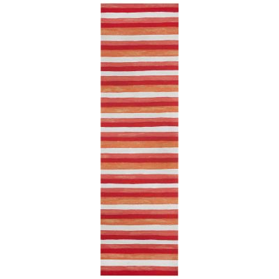 Liora Manne Visions II Contemporary Red 2'3″ x 8'0″ VCFR8431324