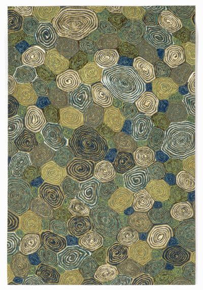 Liora Manne Visions III Contemporary Green 2'0″ x 3'0″ VEB23310203