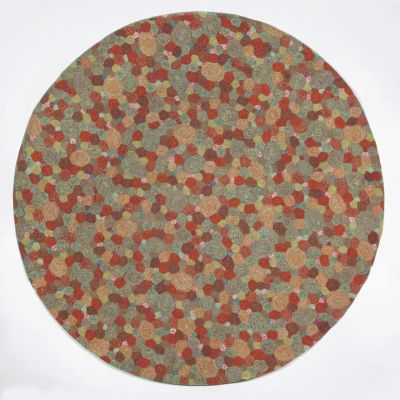 Liora Manne Visions III Contemporary Red 8'0″ x 8'0″ Round VEBD8310224