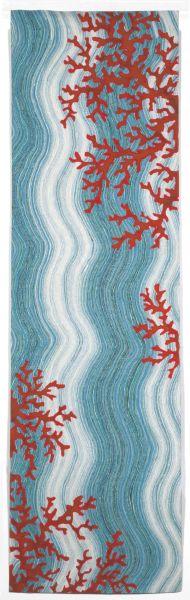 Liora Manne Visions Iv Casual Blue 2'3″ x 8'0″ VGHR8325503