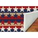 Liora Manne Frontporch Stars & Stripes Red Room Scene